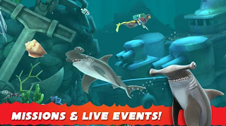 Hungry Shark Evolution Mod Apk Unlimited Coins Free for android