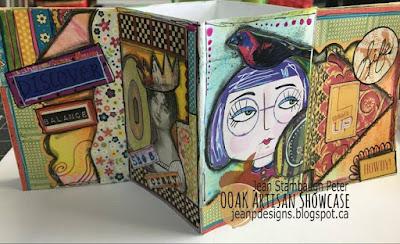 Mixed Media Mini Folder and Collaged Zine, Jean Stambaugh Peter, OOAK Artisans