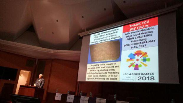 Alex Nurdin Bicara Soal Restorasi Hutan dan Gambut Pada The International Conference on Climate Change Mitigation for Forest and Peatland di Universitas Tokyo