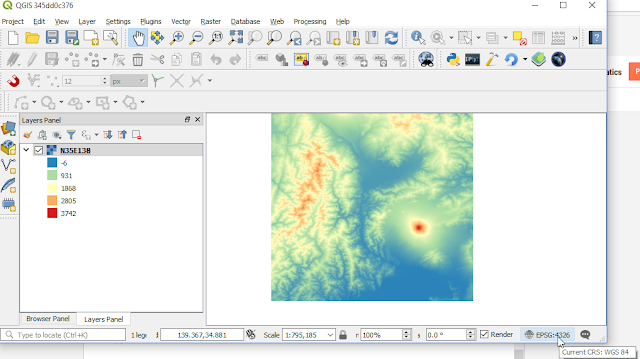 QGIS Map Canvas with Geographic Coordinate System