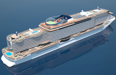 MSC Cruises MSC Seaside New Ship Fincantieri Italy - Delivered November 2017