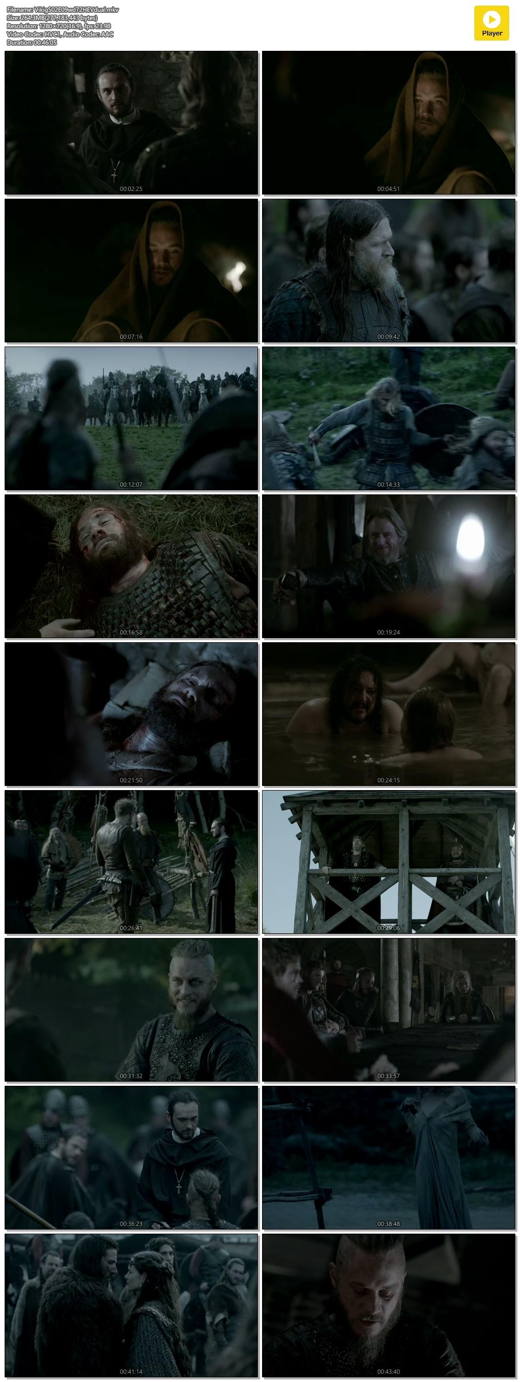 Screenshots Of Hindi Dubbed Show Vikings 2014 Season 02 Episode 09 300MB 720P HD