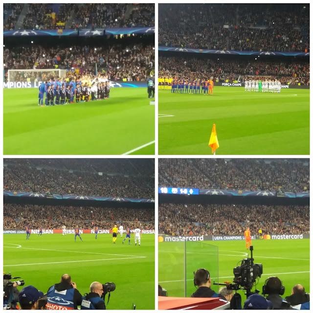 vendo um jogo do Barça no Camp Nou - Champions League