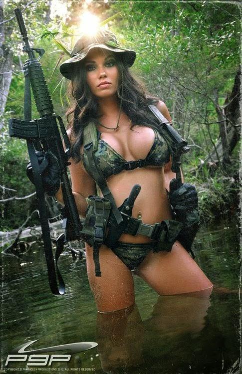 women guns Bikini