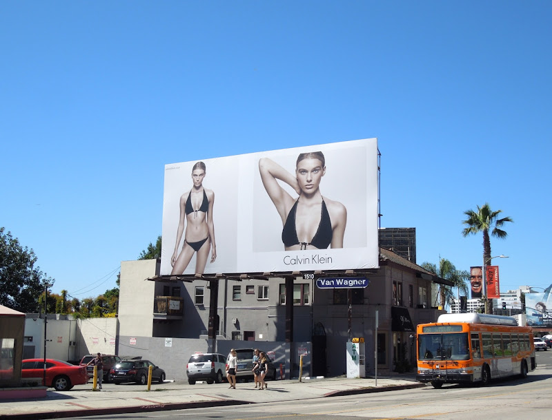 Calvin Klein bikini model 2013 billboard