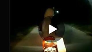 Penampakan Pocong Nyata di Bonceng Driver Ojeg Online