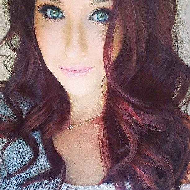 Burgundy Hair Color With Highlights