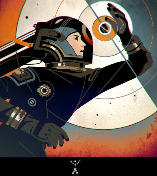 Fred Augis artstation arte ilustrações ficção científica desenho astronautas surreais vintage retrô