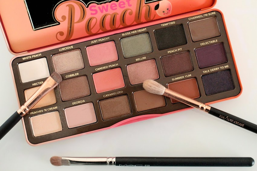 Revue & Makeup Idée makeup maquillage avec la palette Sweet Peach de Too Faced