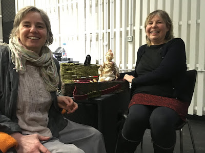 Corina Duyn and Kerrie Marshall, at Nottingham Puppetry Festival March 2018