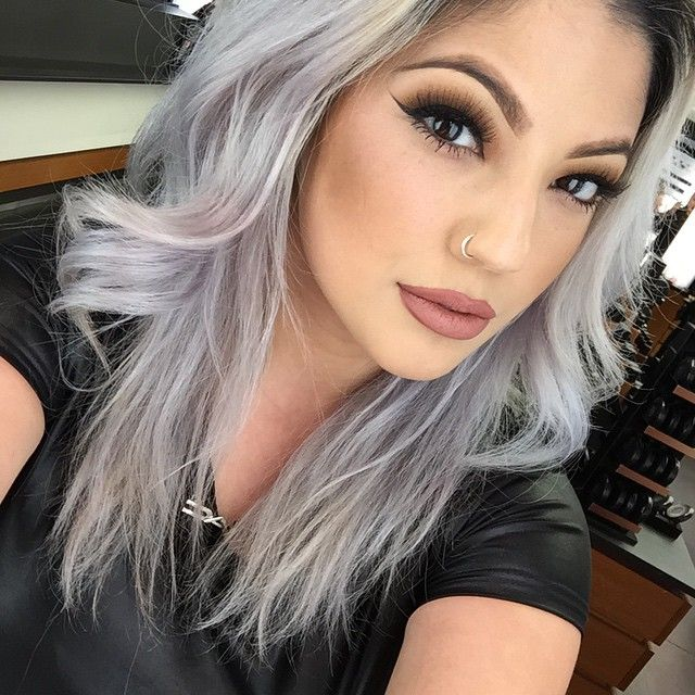 silver gray hair color so beautiful - Fashion Style