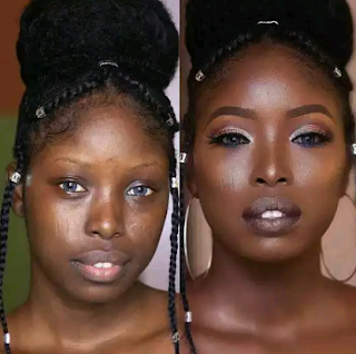 Black Girl's Face Before And After Makeover