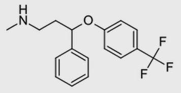 fluoxetine (RS)-N-Metil-3-fenil-3-(4-trifluorometilfenoxi)propilamina