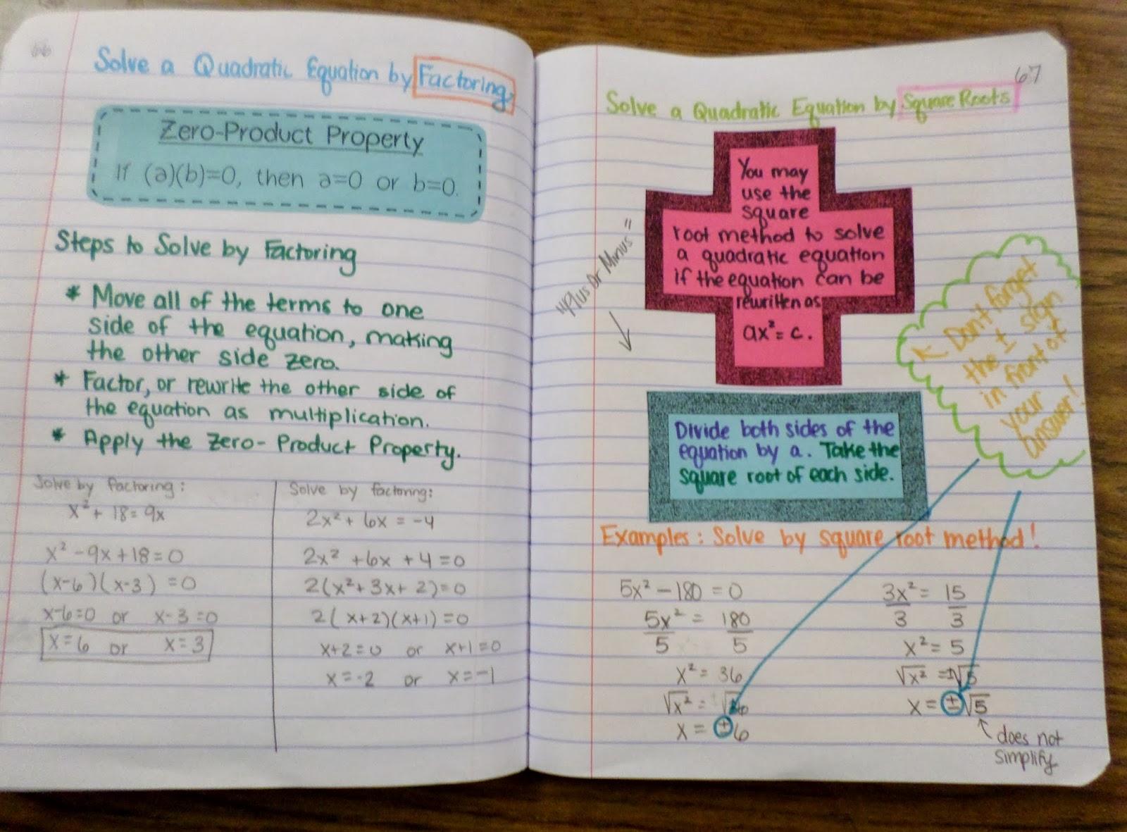 Math Love Solving Quadratics By Square Roots