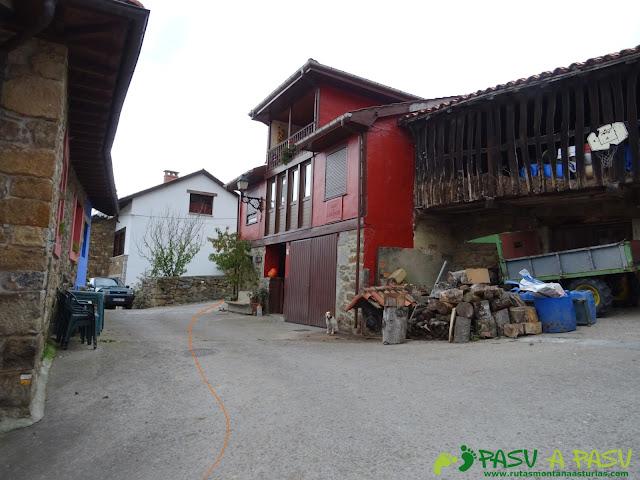 Saliendo de Campiellos a la Xamoca