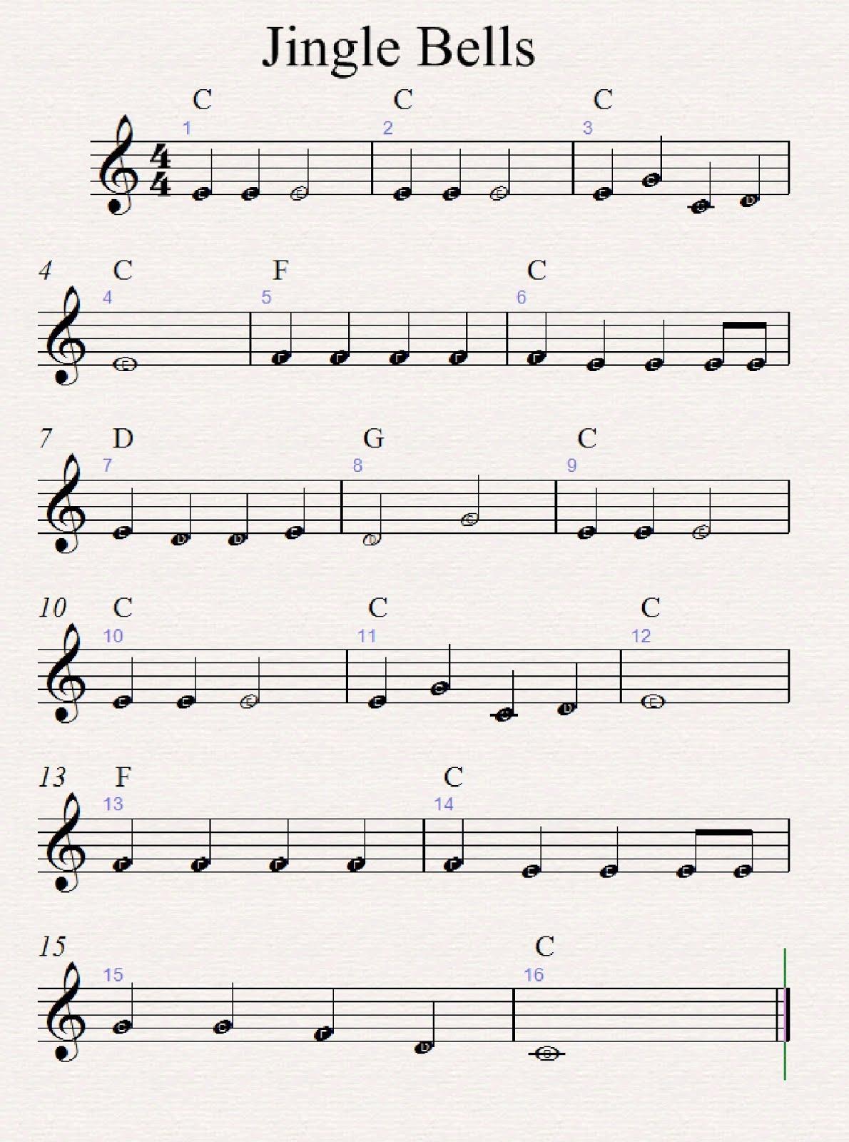 Worksheet Jingle Bells
