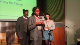 Aisha of Global Generation reading her poem on nature