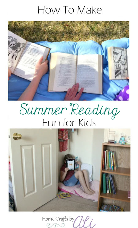 encourage summer reading for kids in fun ways