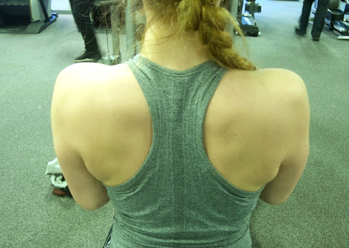 Back of a fit body