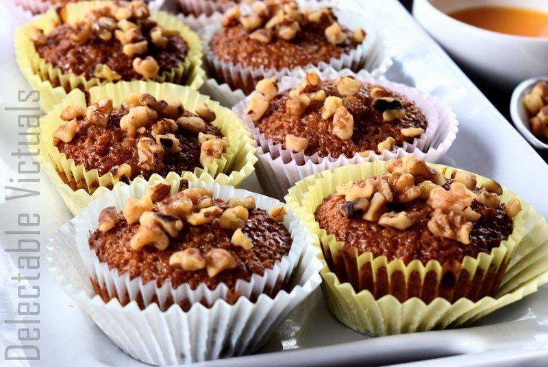 Melomakarona-Inspired Honey Orange Walnut Cupcakes