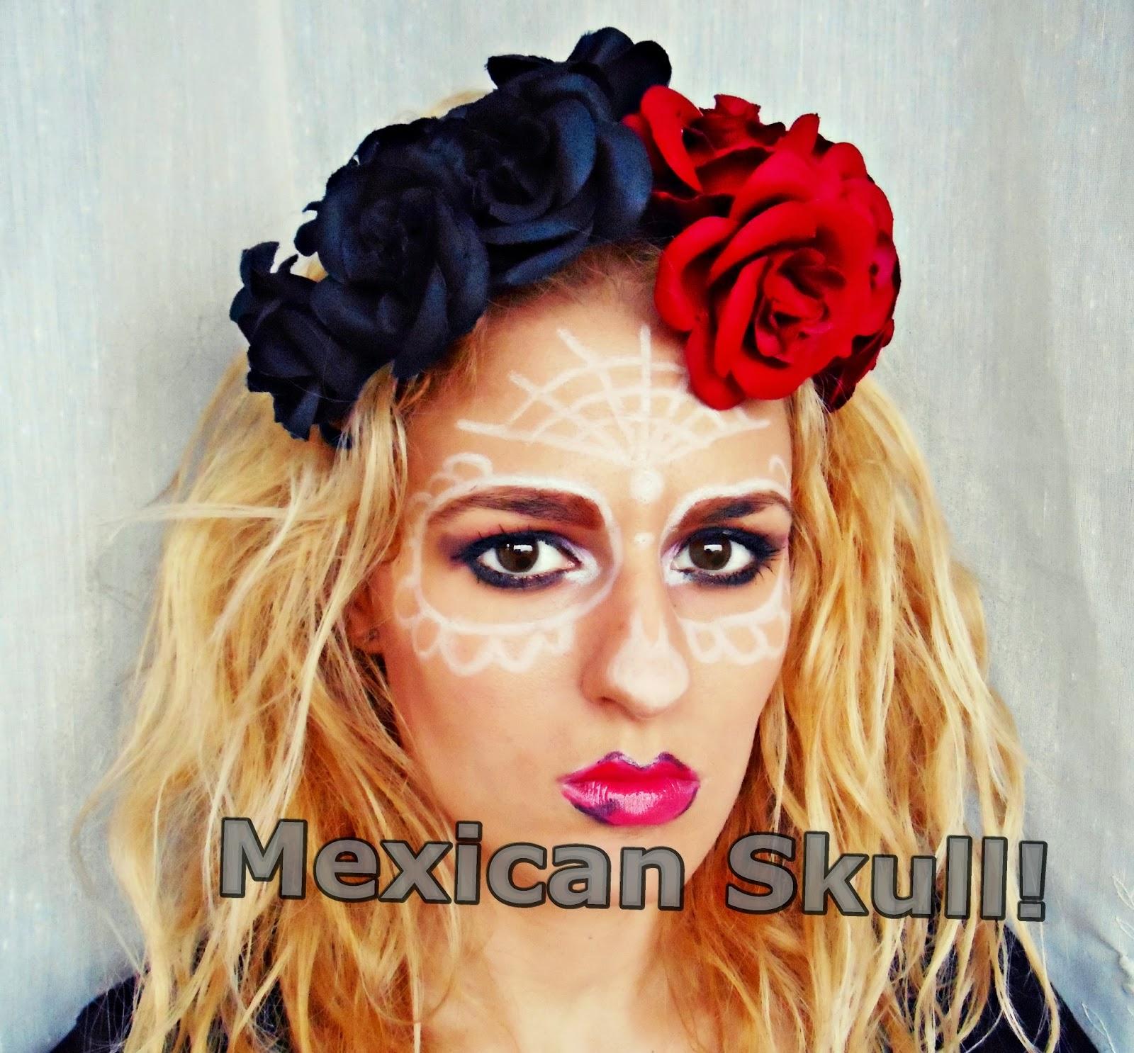 433f5de7cf59 Egy letisztultabb mexikói koponyás sminket szerettem volna elkészíteni,  amihez nem kell fehér alap, (ez csak egy inspiráció, de a későbbiekben az  autentikus ...