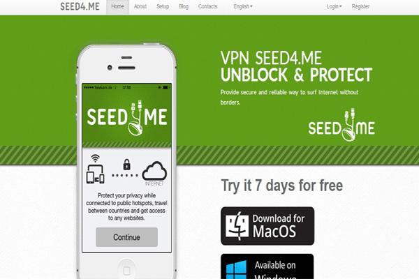 تعرف على خدمة Seed4.me التي توفر لك VPN لتشفير إتصالك بالأنترنت