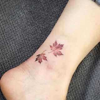 tatuaje hojas otoño