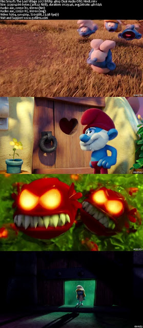 Smurfs The Lost Village 2017 BRRip 480p Dual Audio Hindi