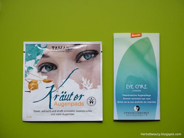 Augenpads und Augencreme