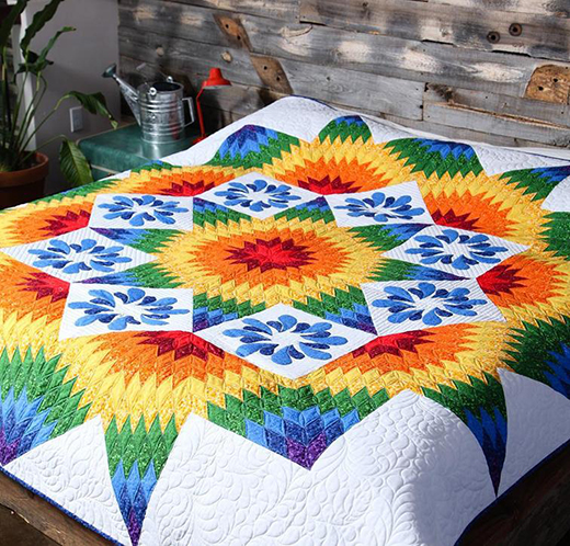 Star Rise Star Fall Quilt Free Pattern Designed by Project House 360 featuring Basically Patrick by Patrick Lose