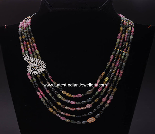 Multi Color Tourmaline Beads Necklace