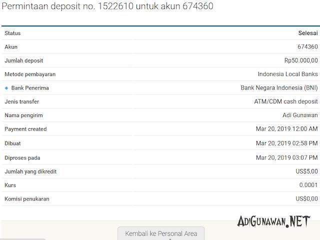 status deposit octafx