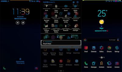 Cara Merubah Tampilan Status bar dan Notifikasi Panel Samsung Android Menjadi Berwarna Tanpa Root