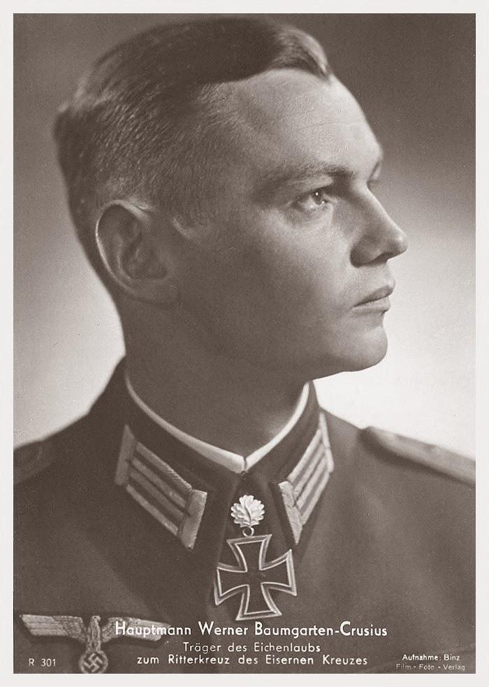 Werner Baumgarten-Crusius Ritterkreuzträger Knight Cross Holder Postcard
