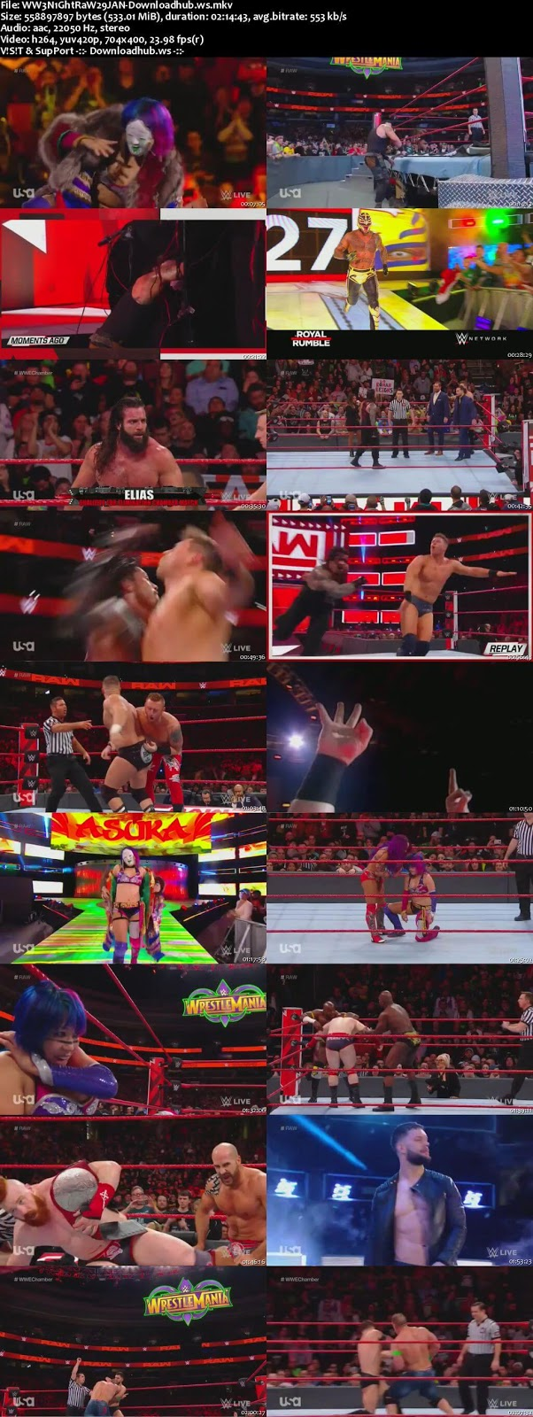 WWE Monday Night Raw 29 January 2018 480p HDTV