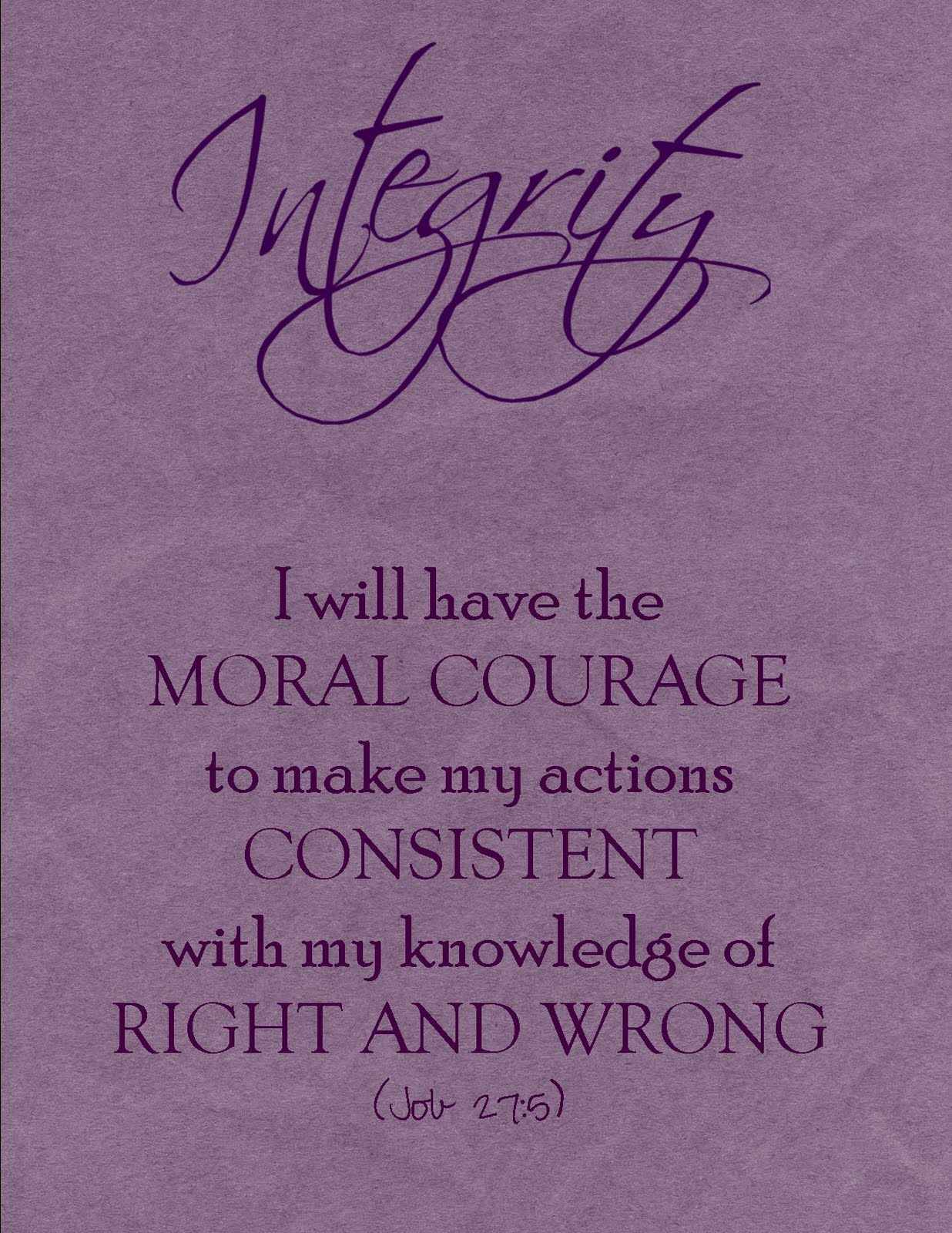 Integrity Quotes For Students Quotesgram
