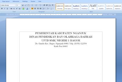 Cara Membuat Garis KOP Surat di Microsoft Word 18