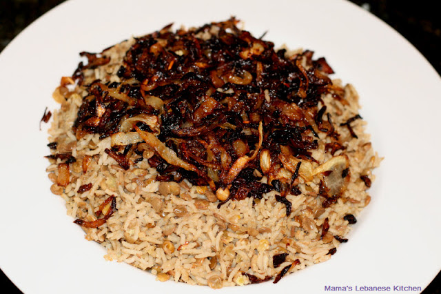 Mujaddara: Lentils With Rice and Caramelized Onions Recipe