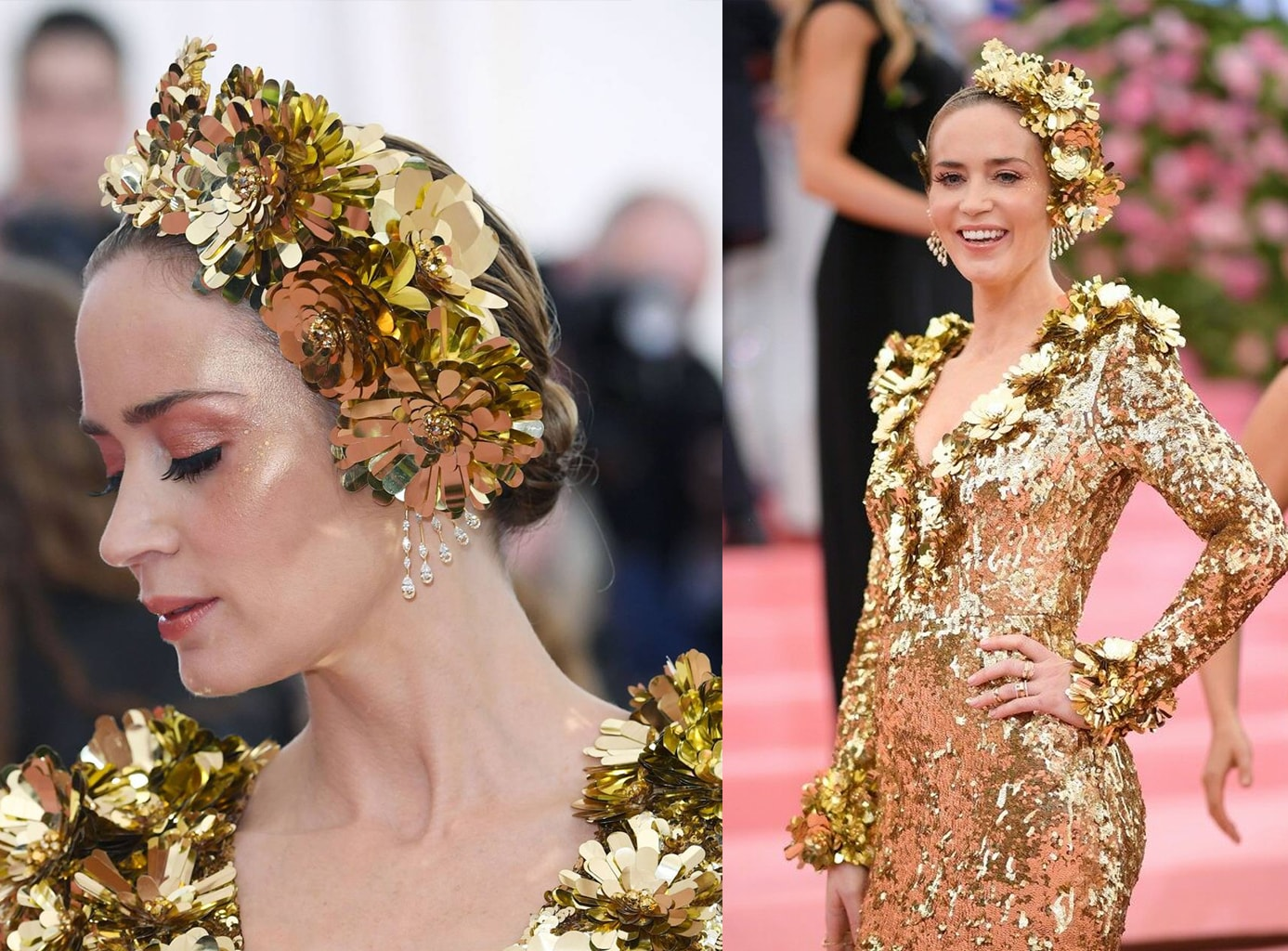 beauty look emily blunt met gala 2019
