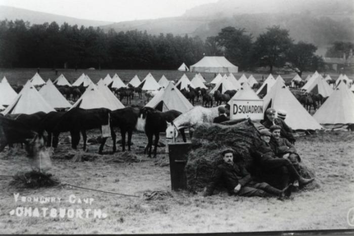Campamento de maniobras de la Primera Guerra Mundial en Chatsworth