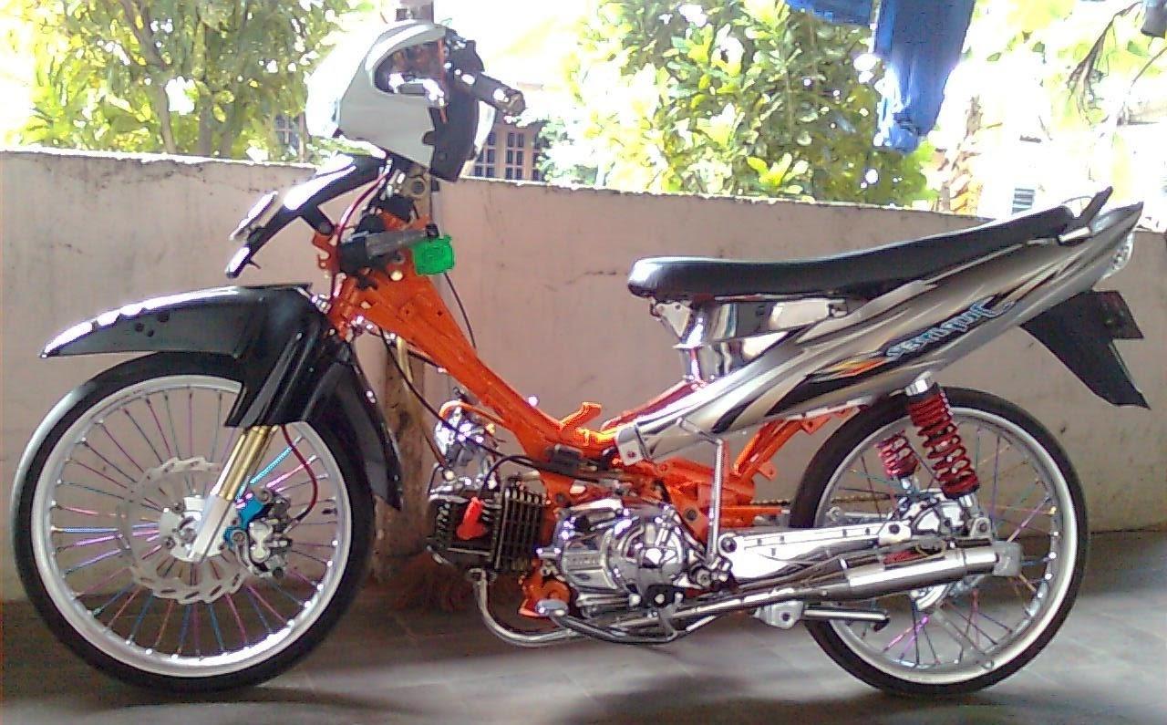 50 Modifikasi Motor Bebek Drag Terlengkap Sumped Motor