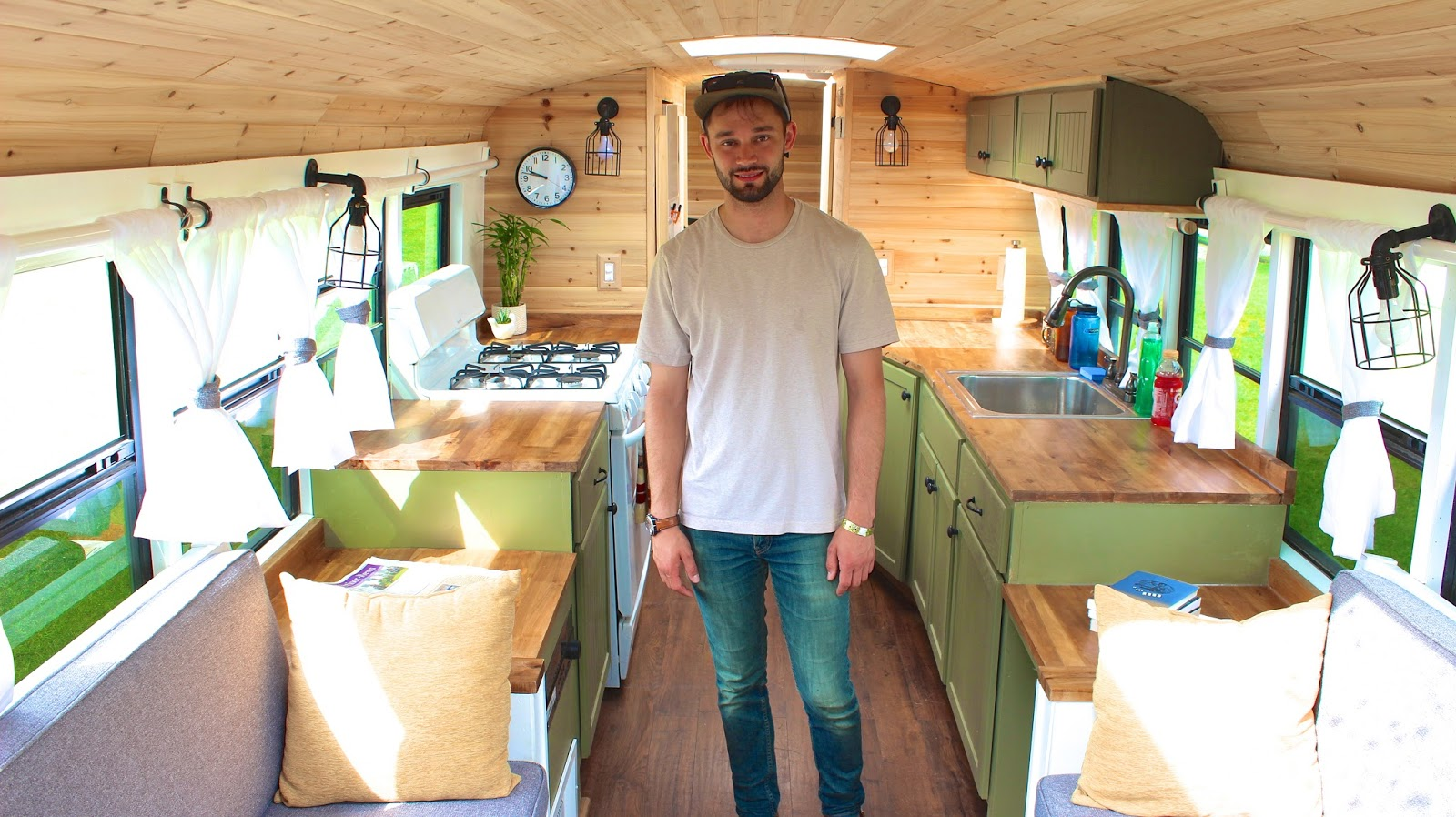 relaxshacks com three gorgeous tiny house school bus conversions