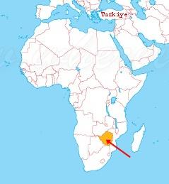 Zimbabve Harita