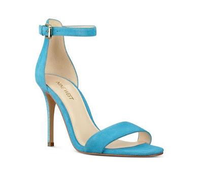 nine west blue barely there high heels