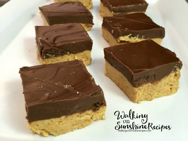 You're going to love this easy recipe for Homemade Peanut Butter Bars that taste just like Reese's Peanut Butter Cups from Walking on Sunshine Recipes.