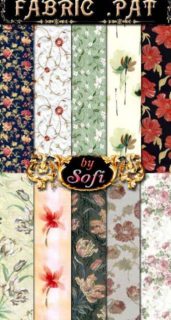 texturas de estampados florales