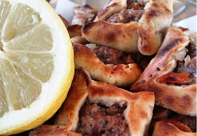 Sfeeha or Lebanese meat pies