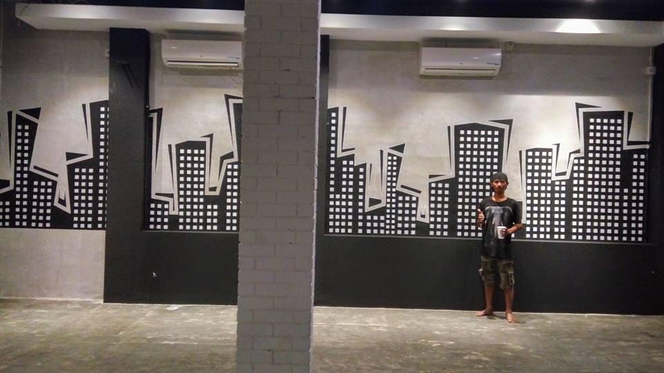 Pelukis-Gambar-Mural-Cafe