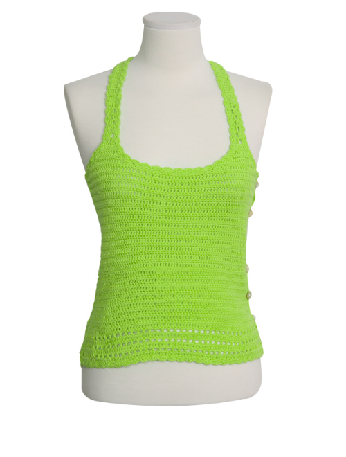 Decorative Side Button Knit Tank Top