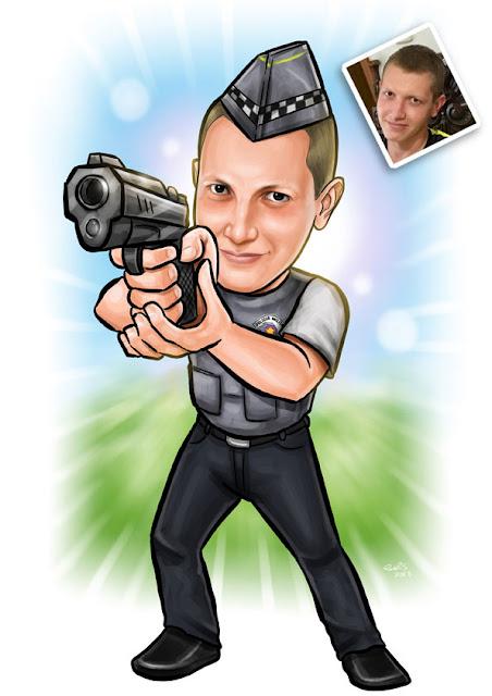 caricatura policial militar
